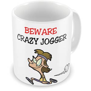 Beware Crazy Jogger Mug