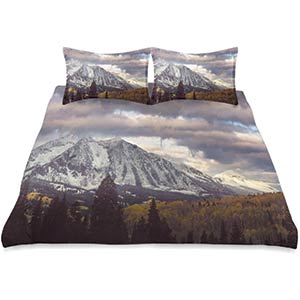 Snow-Capped Mountains Duvet Cover