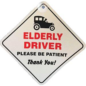 Elderly Driver Novelty Car Sign