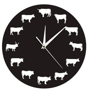 Farmhouse Animals Wall Clock