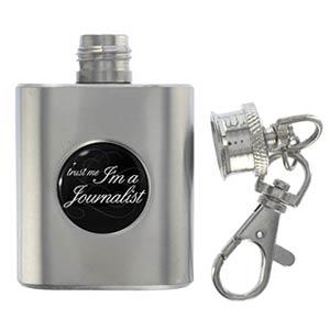Journalist Miniature Flask Keyring