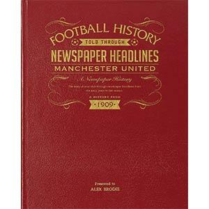 Personalised Football Newspaper Book