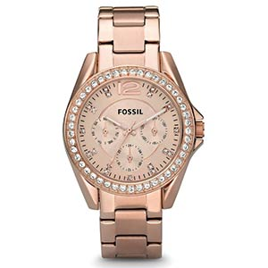 Fossil Rose Goldtone Dial Watch