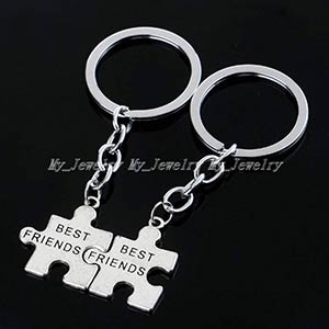Friendship Jigsaw Keyring