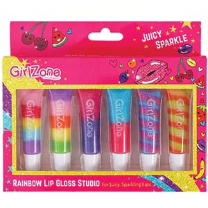 Rainbow Fruity Lip Gloss Set