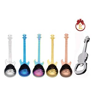 Guitar Spoons Teaspoon Set