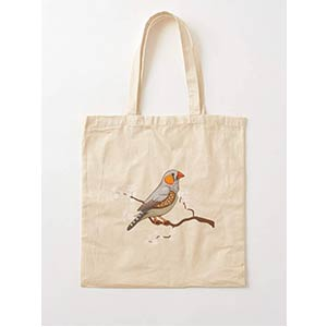 Japan Finch Tote Bag