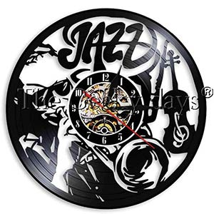 Jazz Vinyl Record Wall Clock