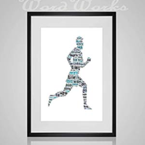 Personalised Jogger Word Art Print