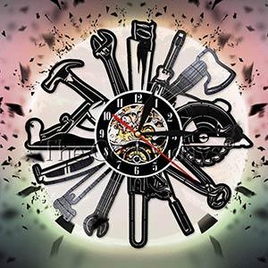 Joiner Tools Vinyl Record Wall Clock