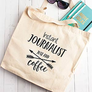Instant Journalist Tote Bag