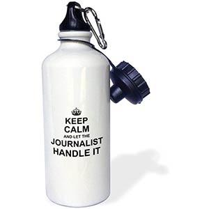 Novelty Journalist Water Bottle