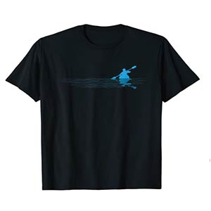 Kayaker Silhouette Graphic T-Shirt
