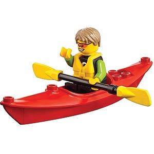 LEGO Kayaker Mini Figure