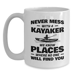 Novelty Kayaker Mug