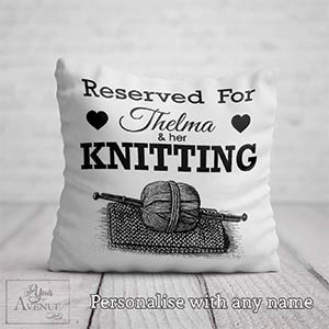 Reserved For Knitting Cushion