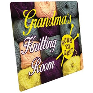 Personalised Knitting Room Sign