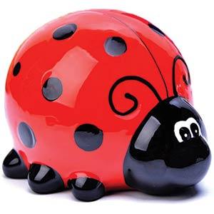 Ladybug Shape Child Piggy Bank