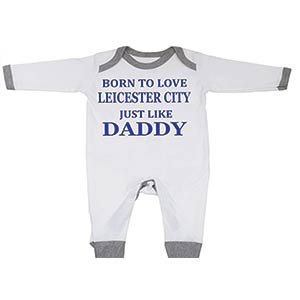 Love Leicester Baby Sleepsuit