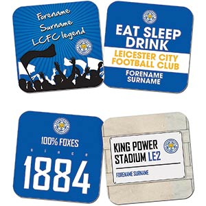 Personalised Leicester City FC Coasters