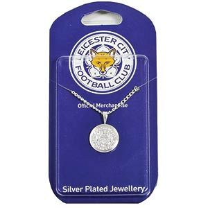 Leicester City Silver Pendant & Chain