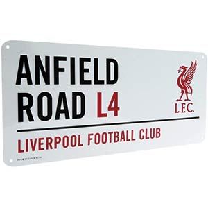 Anfield Road Metal Street Sign