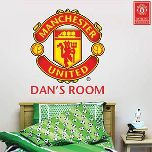 Manchester United Personalised Name Wall Sticker