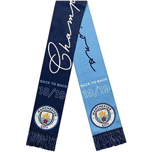 Manchester City FC Champions Scarf