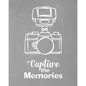 Capture The Memories Art Print