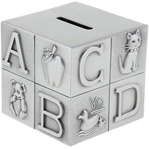 Modern Cube Metal Piggy Bank