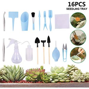16 Pcs Mini Garden Tools Set