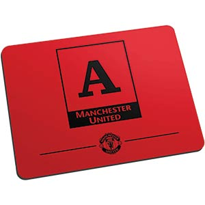 Personalised Manchester United Monogram Mouse Mat