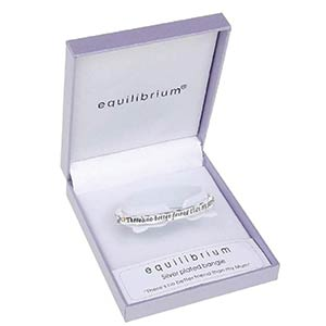 Silver Plated Mum Bangle