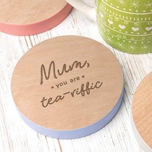 Lavender Mum Coaster