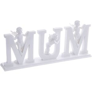 Decorative Cherub Letters Plinth Mum
