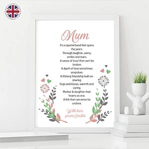 Personalised Mum Poem Print