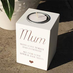 Mum Wooden Tealight Holder