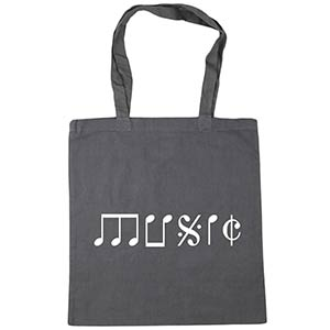 Music Note Shopping Bag