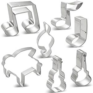 Music Notes Cookie Cutters Set