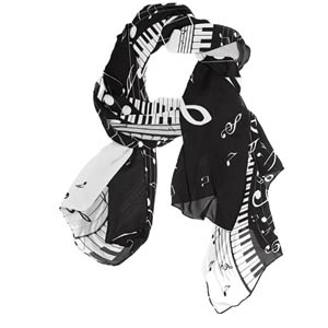 Piano Music Note Scarf
