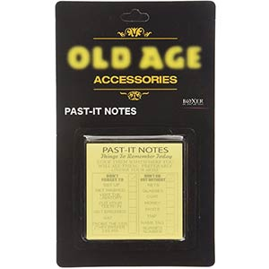 Old Age Past-It Notes