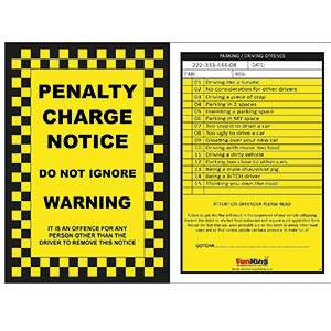 6 X Prank Parking Tickets