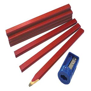 Carpenters Pencils Tube with Sharpener