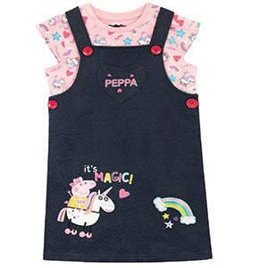 Peppa Pig Pinafore Dress and T-Shirt