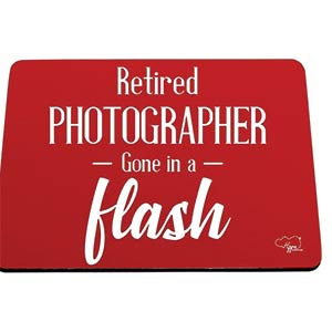 Retired Photographer Mouse Mat