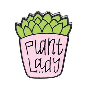 Plant Lady Enamel Brooch