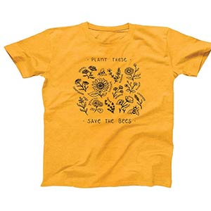 Plant Graphic Letters T Shirt