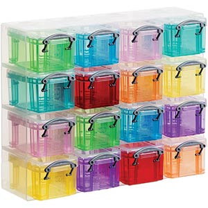 Clear Plastic Organiser Boxes