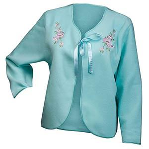 Fleece Ribbon Tie Bed Jacket
