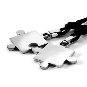 Silver Puzzle Pendant Necklace
